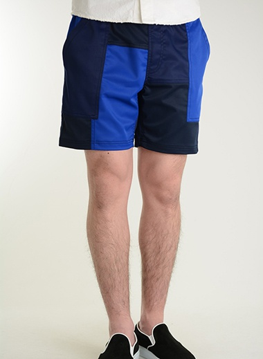 M エム patchwork board short pants