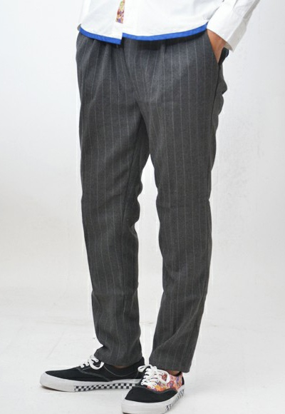 rehacer リーチャー Wool Stripe Easy Pants