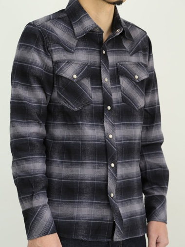 TMT ティーエムティー L/SL OMBRE CHECK SHIRT