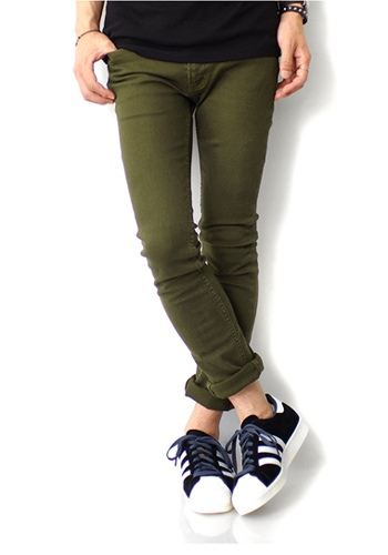 LOUNGE LIZARD ラウンジリザード HIPOWER STRETCH NEW FIT KHAKI