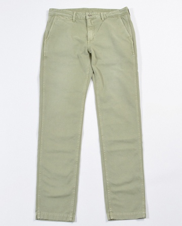 KURO クロ SULFER DYE WASHED WEST POINT CHINO PANTS
