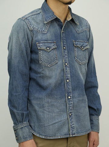 TMT ティーエムティー L/SL HERITAGE DENIM SHIRT