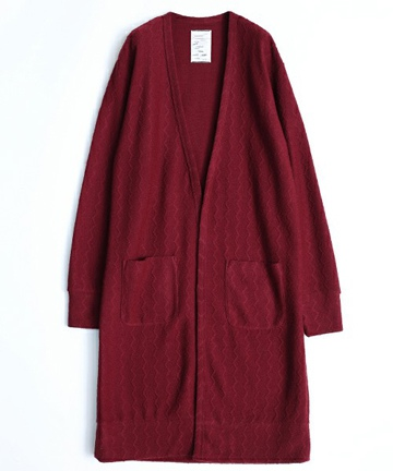 SHAREEF シャリーフ WOOL JQ LONG CARDIGAN