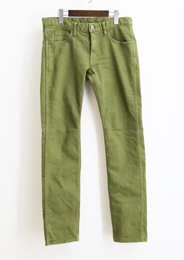 TMT ティーエムティー COLOR OVER-DYE STRETCH SLIM PANTS KHAKI