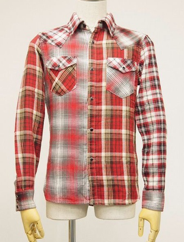 AKM エイケイエム S046 CTN040 CRAZY CHECK SHIRTS