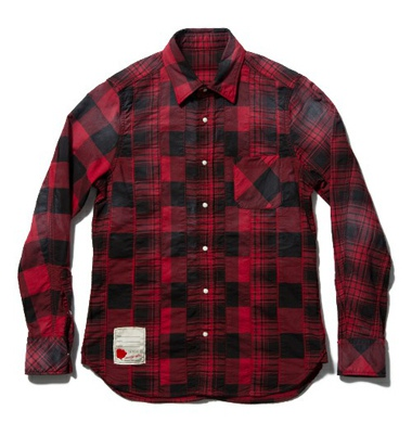 SEVESKIG セグシヴ STRECH PANEL CHECK SHIRT