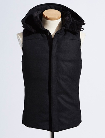 VADEL バデル 15AW Separate hooded down vest