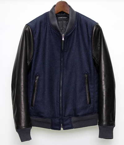 LOUNGE LIZARD ラウンジリザード No.5565 BRITISH WOOL BY MALLALIEUS VARSITY JACKET