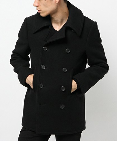 LITHIUM HOMME リチウムオム HEAVY MELTON CLASSIC PEA COAT