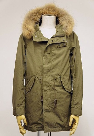 LOUNGE LIZARD ラウンジリザード No.5568 COTTON WEATHER MODS COAT (KHAKI)