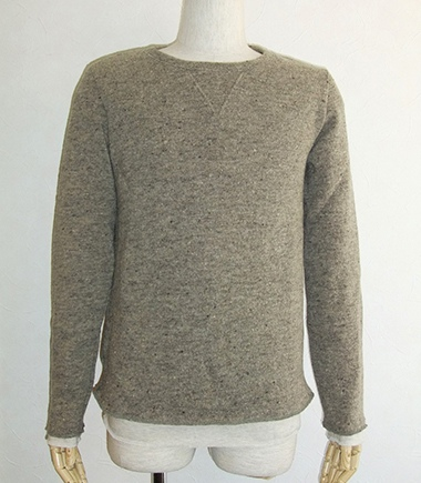 REMI RELIEF レミレリーフ WOOL LAYERED CREW SWEATER
