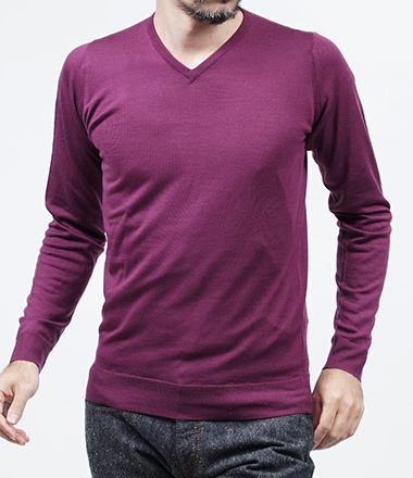 JOHN SMEDLEY ジョンスメドレー ASHMOUNT /HOLLYHOCK PURPLE