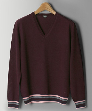 Paul Smith ポールスミス MULTI COLOR CONTRAST V-NECK KNIT / 253408 346PB