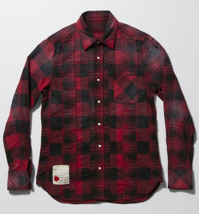 SEVESKIG セヴシグ STRECH PANEL CHECK SHIRTS