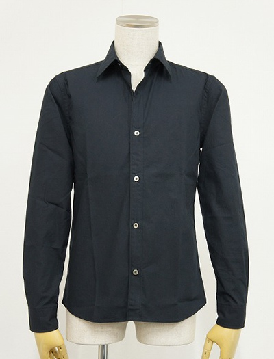 LOUNGE LIZARD ラウンジリザード No.4180 ORGANIC COTTON BROAD SHIRTS (NAVY)