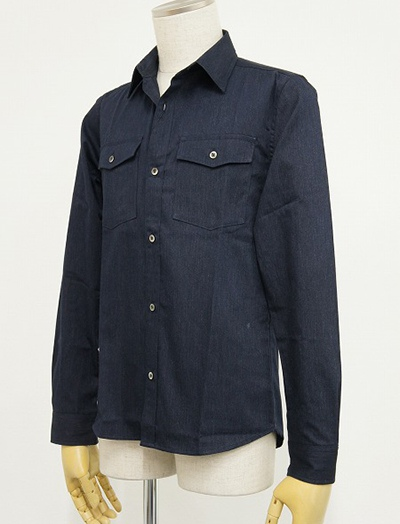 LOUNGE LIZARD ラウンジリザード No.4182 DENIM LIKE SHIRTS