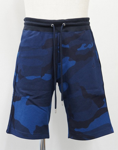 1PIU1UGUALE3 ウノピゥウノウグァーレトレ ORIGINAL HEAVY KANOKO CAMO SWEAT SHORTS