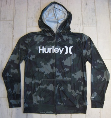 HURLEY ハーレー RASH FULL ZIP OPEN HOOD O&O