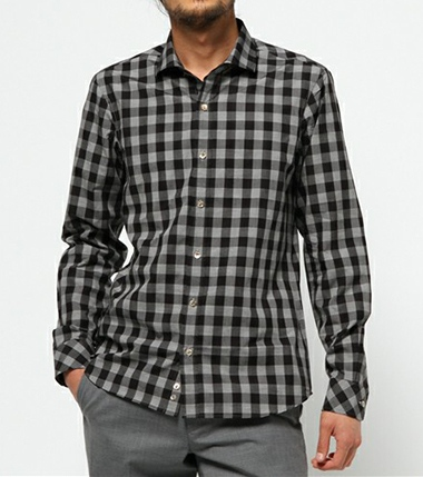 KATHARINE HAMNETT LONDON キャサリンハムネットロンドン GINGHAM BLOCK SHIRT