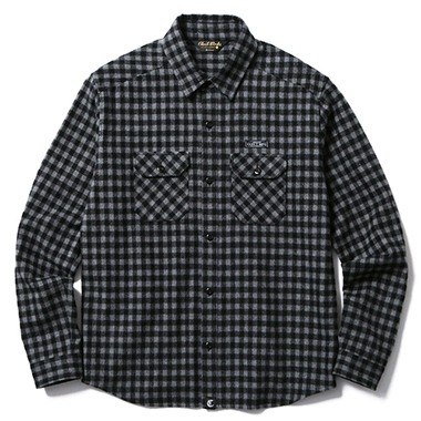 CLUCT クラクト L/S GINGHAM CHECK FLANNEL SHIRT