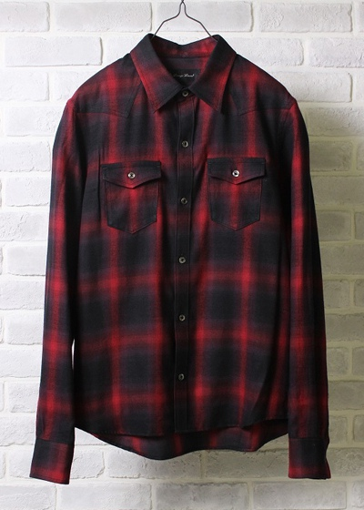 LOUNGE LIZARD ラウンジリザード No.4215 C/R OMBRAY CHECK SHIRTS
