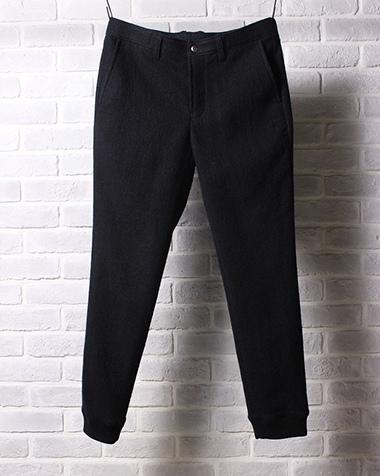 LOUNGE LIZARD ラウンジリザード No.6826 WOOL MILLED WASHER RIB PANT