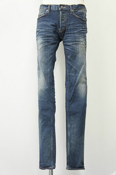 "LOUNGE LIZARD ラウンジリザード No.6823 12oz HIPOWER STRETCH×SHAVING DENIM ""SKINNY LEG"""