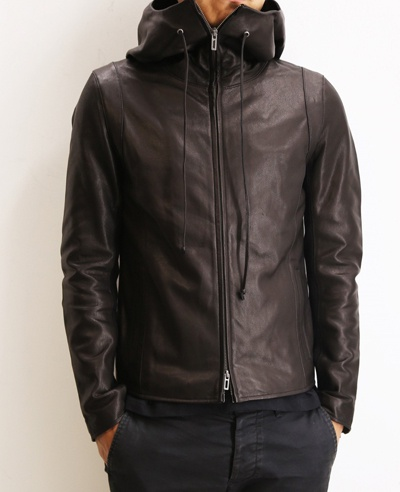 Domenico+Savio ドメニコアンドサビオ GOAT LEATHER HOODED JACKET