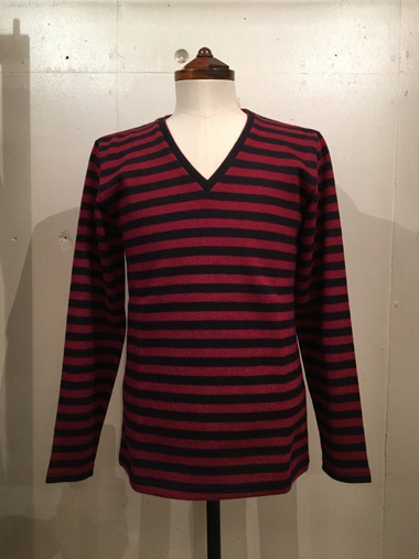 Reats Tailor Zazous リーツテイラーザズー Border knit red black