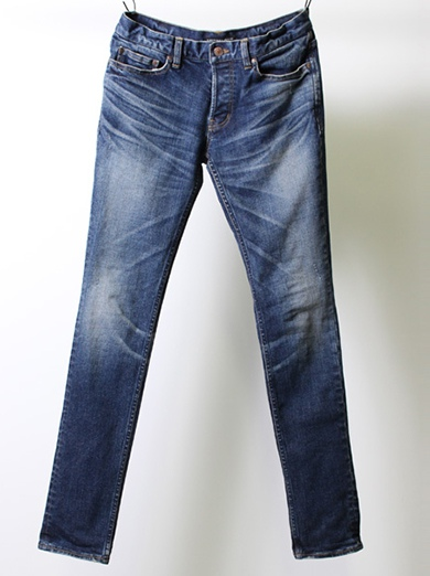 LOUNGE LIZARD ラウンジリザード 13oz STRETCH DENIM x SHAVING SKINNY LEG
