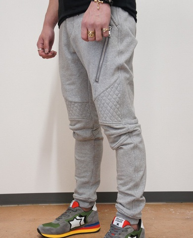 AKM × MOLOTOV COCKTAIL CNU026 ORIGINAL STRETCH JERJEY BIKER SWEAT PANTS