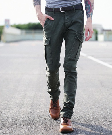 MR.OLIVE ミスターオリーブ SUPER STRETCH DENIM / OVERDYED SKINNY CARGO PANTS