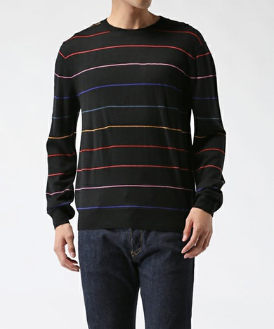 Paul Smith ポールスミス FINE MULTI-BORDER SWEATER / 262407 070R