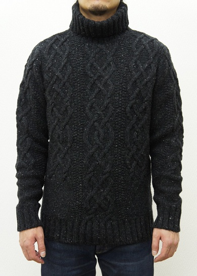 LOUNGE LIZARD ラウンジリザード No.2478 MODENA NEP TURTLE NECK SWEATER