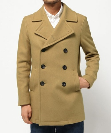 ato アトウ ANGORA MELTON PEA COAT