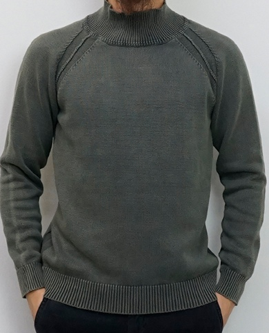 KURO クロ 5G DYED WASH HIGH NECK SWEATER