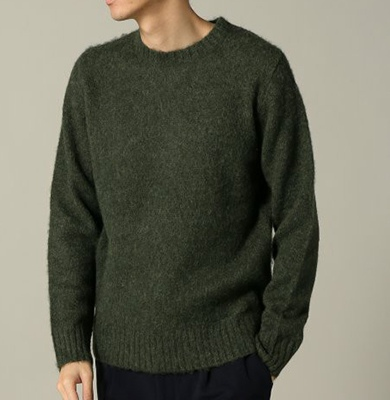 Journal Standard ジャーナルスタンダード TRISECT KNOLL SHAGGY KNIT