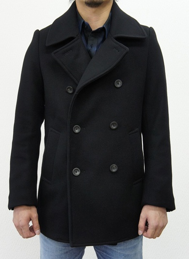LOUNGE LIZARD ラウンジリザード No.5647 DOUBLE CLOTH MELTON PEA COAT