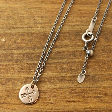 Atease アティース K10FRIENDSHIP POINT NECKLACE