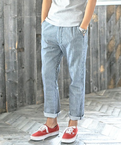 CAMBIO カンビオ mp4883-Stretch Denim Relax Easy Tapered Pants