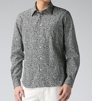 Paul Smith ポールスミス ETCHED FLORAL PRINT SHRTS / 172313 610P