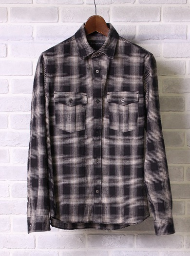 LOUNGE LIZARD ラウンジリザード No.4232 C/L CHECK SHIRTS