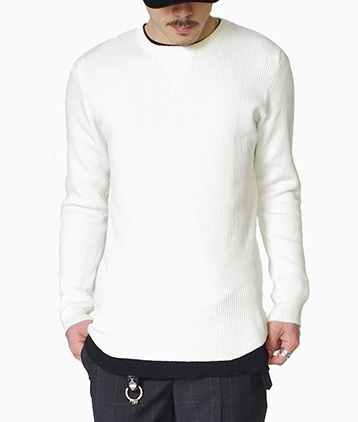 LOUNGE LIZARD  ラウンジリザード FINE COTTON KNIT PULLOVER