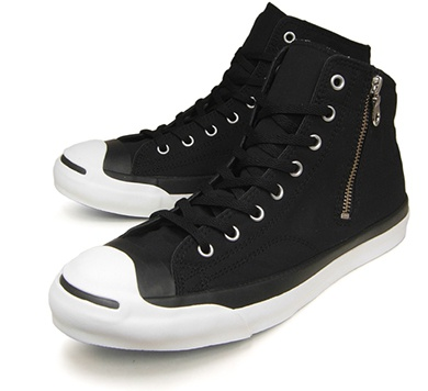 converse コンバース JACK PURCELL WAXCOTTON MID BLACK