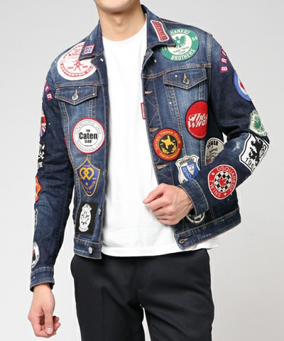 DSQUARED2 ディースクエアード SPORTS JACKET /JEAN JACKET /PATCH WASH